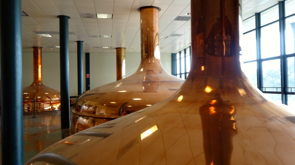 copper mash tank at Spoetzl Brewery