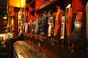 beer taps at Tolbert's Restaurant