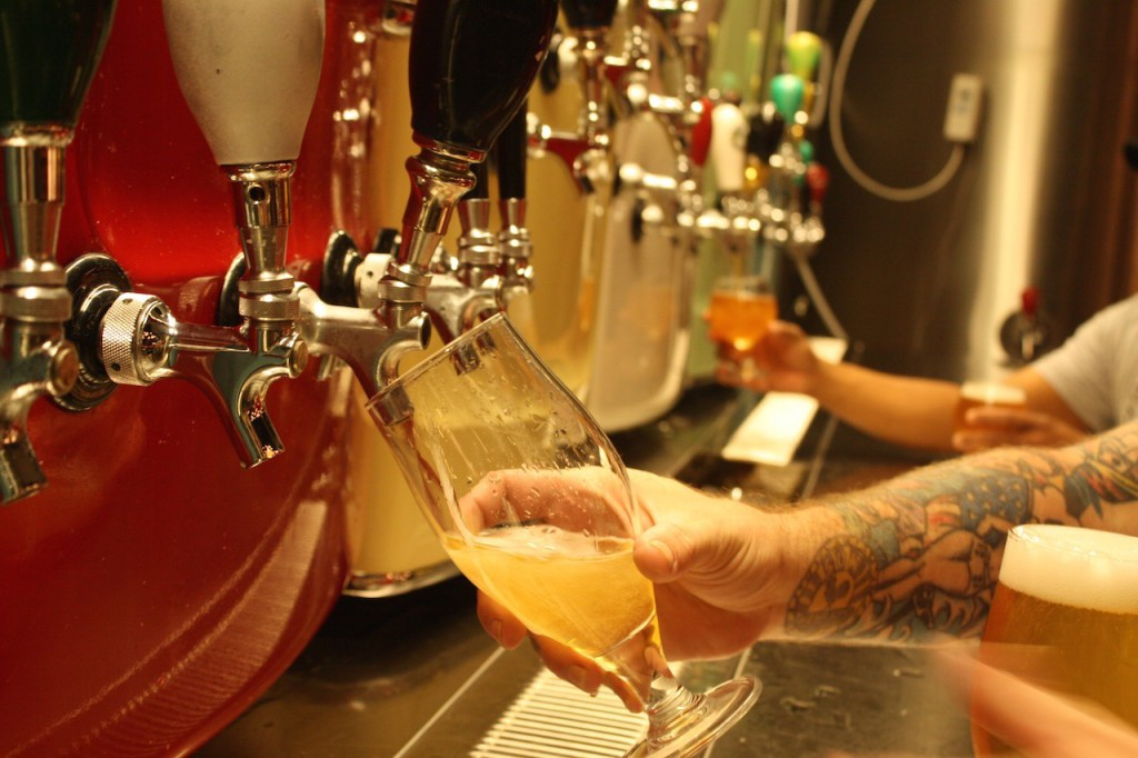 Beer taps at Brain Dead Brewing