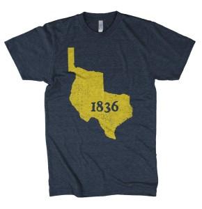 1836 Tshirt by Tumbleweed Texstyles