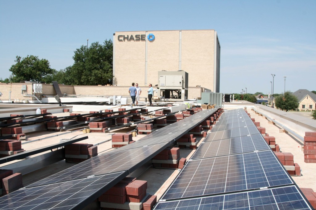 O3 Solar Energy at Chase Bank in Denton