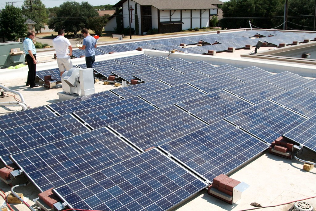 Rooftop O3 Solar Panels