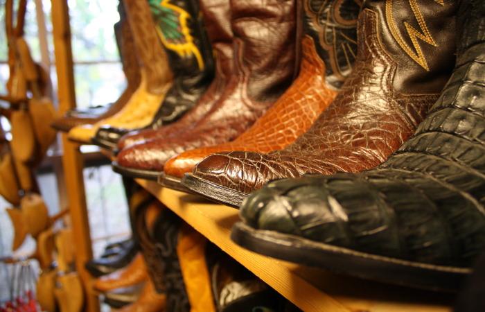 boots on shelf