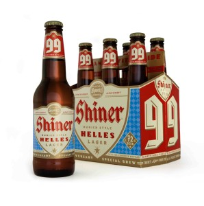 Shiner 99 6-pack & bottle