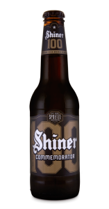 shiner 100 year commemorator bottle