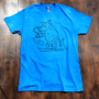 Thirsty Armadillo Tee - Blue
