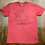 Thirsty Armadillo Tee - Red