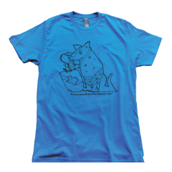 Thirst Armadillo Texas Tee Turquoise/Blue